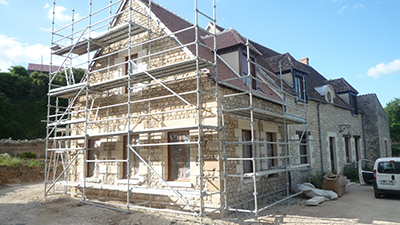 Construction de surélévation de maison à Soissons
